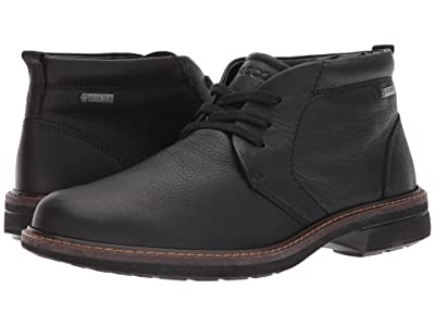 ECCO Turn Gore-Tex Chukka Tie (Black) Men