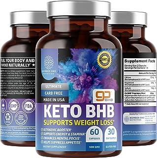 N1N Premium Keto Diet BHB Pills for Weight Loss [6 Powerful Ingredients] Natural Ketogenic Fat Burner That Helps Boost Ene...