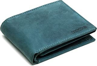 WildHorn® 100% Genuine High Quality Mens Leather Wallet (Blue Hunter NC)