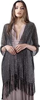 Sparkle Shawls and Wraps for Evening Eresses, Party Scarfs for Women Dress Shawl