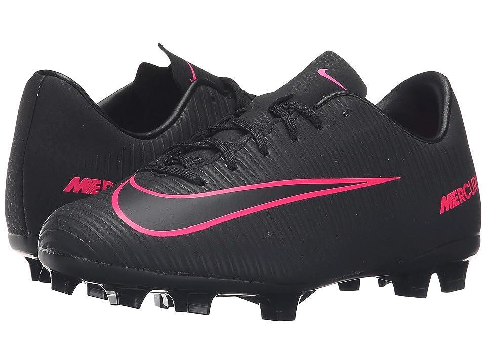 Nike Kids Jr Mercurial Victory VI FG (Toddler/Little Kid/Big Kid) (Black/Black) Kids Shoes