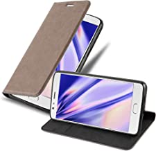 Cadorabo Book Case Works with OnePlus 3 / 3T in Coffee Brown – with Magnetic Closure, Stand Function and Card Slot – Wallet Etui Cover Pouch PU Leather Flip