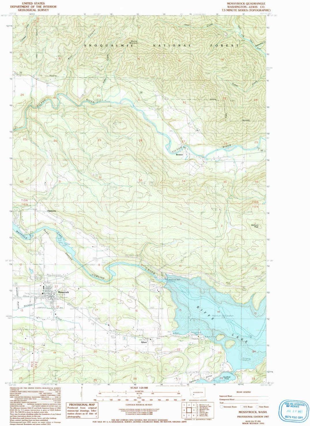 All items free shipping YellowMaps Mossyrock WA topo map 1:24000 7.5 Scale Minut X Cheap mail order shopping