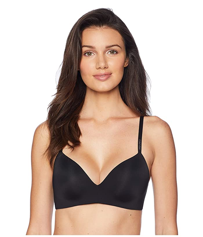 Calvin Klein Underwear  Form Lightly Lined Demi (Black) Womens Bra