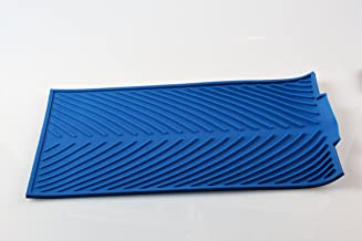 """Flow Silicone Dish Drying & Draining Mat (15.3"""" x 9.8"""") Blue"""