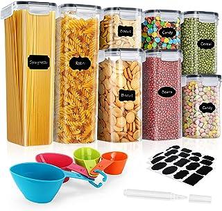 Gifort Boîtes de Conservation Alimentaire, Contenants Céréales Hermétiques, Boites de Rangement Cuisine en Plastique Scell...