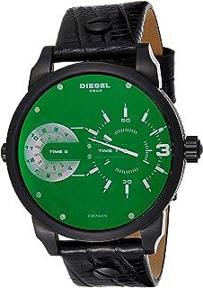 ساعة كوارتز للرجال من ديزل، بشاشة عرض انالوج وحزام جلدي، طراز DZ7405