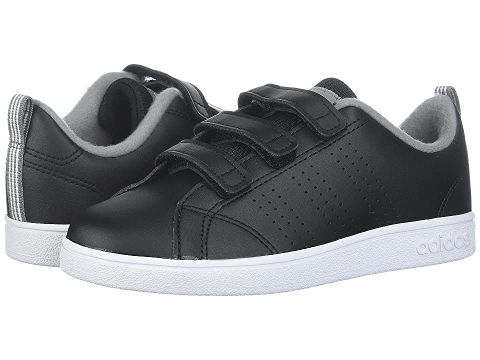 adidas Kids VS Advantage Clean CMF (Little Kid) (Black/Black/Grey 3) Kids Shoes