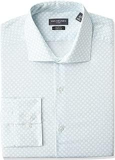 Men's Dress Shirt Flex Collar Stretch Slim Fit Print