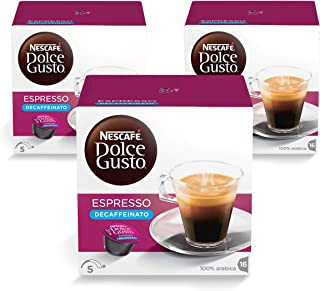 Nescafe Dolce Gusto Espresso Decaf Coffee Capsules (48 Capsules,  48 Cups)
