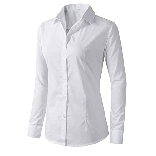 dafe9dbb Women's Formal Work Wear White Simple Shirt