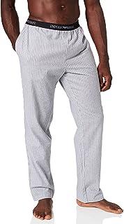 Emporio Armani Men's Yarn Dyed Woven Pyjama Sweatpants