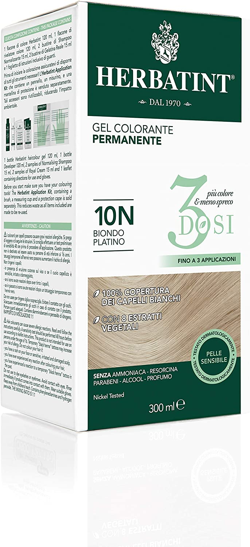 Herbatint Gel Colorante 10N Biondo Platino