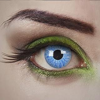 aricona Kontaktlinsen - Lichtblauwe contactlenzen, kleurlenzen zonder sterkte, gekleurde contactlenzen voor carnaval, cosp...