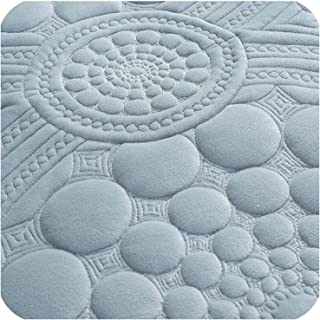 3D Floral Circle Pattern Sofa Cover Towel Slipcover Plush Fabric Thick Sofa Europe Non Slip Sofa Couch Cover Corner Towel Mats,Grey Blue 1 Piece,70x150cm 1pc