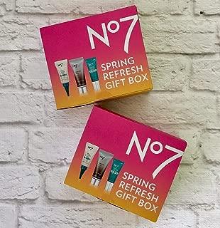 No7 Spring Refresh Gift Box Serum Eye Cream Airbrush Primer Lot Of 2 Travel Size
