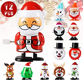Wind-Up Toys Christmas Toys Prizes - 12 Pack Small Toys for Kids, Assorted Mini Christmas Toy Gifts For Kids, Party Favors...