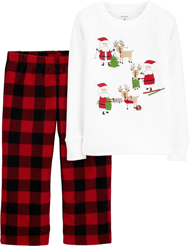 Carter's 2 Piece Holiday PJ Set (Toddler/Kid) - Plaid-5T