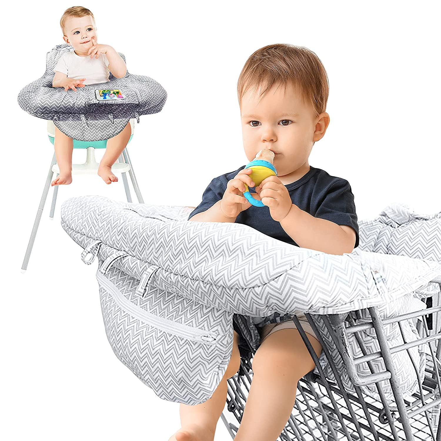 AGUDAN Shopping Cart Cover, High Chair Cover for Baby Foldable Portable Seat with Bag for Infant, Machine Washable