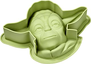 Gedalabels Baking pan Star Wars-Yoda of Silicone in Green, 26 x 18.2 x 7.2 cm