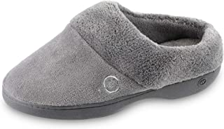 isotoner Women's Terry Slip in Clog, Memory Foam, Comfort and Arch Support, Indoor/Outdoor slip on slipper
