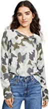 White + Warren Women's Cashmere Camo Sweatshirt
