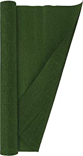Crepe Paper Roll, Heavy Italian 180 g, 13.3 sqft, Leaf Green