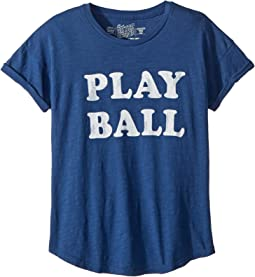 The Original Retro Brand Kids Play Ball Short Sleeve Slub Crew Neck Tee (Big Kids)