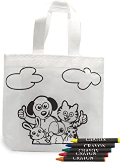 FUN FAN LINE - Ensemble de sacs à colorier avec des cires colorées. Idéal pour les cadeaux d'anniversaire, les écoles et l...