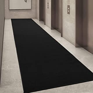 "Ottomanson Ottohome Collection Solid Design Runner Rug, 20"" X 59"", Black"