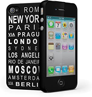 Cygnett CY0434CPNOM Nomad PC Case with Location, Text and Grip for iPhone 4 - 1 Pack - Retail Packaging - Black