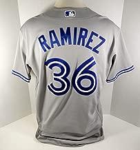 2017 Toronto Blue Jays Carlos Ramirez #36 Game Used Grey Jersey - Game Used MLB Jerseys