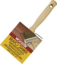 Wooster Brush Not Available F5119-4 Bravo Stainer Bristle/Polyester Stain Brush, 4 Inch, 4-Inch
