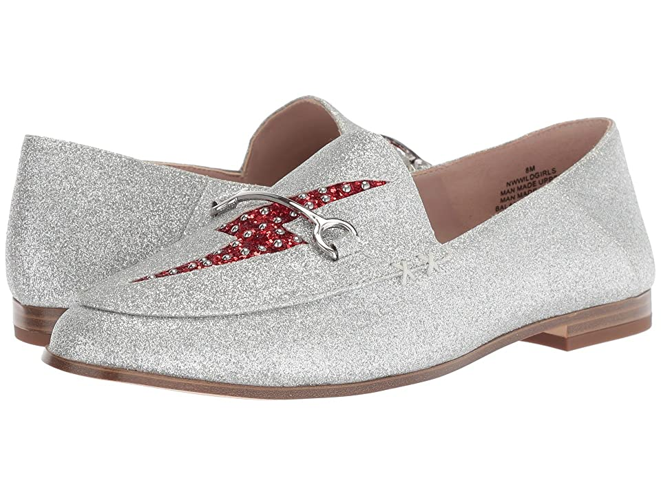 Nine West Wild Girls Loafer (Silver/Red Synthetic) Women