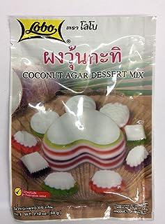 Coconut Agar Dessert Mix Size 60g(2 Oz) X 3 Bags Thai Dessert ,Lobo Brand.