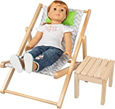 Dress Along Dolly Lounge Chair & Table Seat Set for American Girl & 18