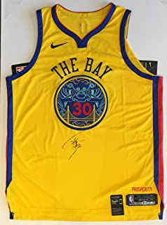 44d195754de Stephen Curry Autographed Golden State Warriors Jersey - On-Court Authentic  GOLD Authentic Chinese Heritage