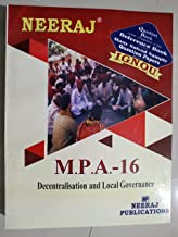 IGNOU MPA 16 DECENTRALIZATION AND LOCAL GOVERNANCE (MA Public Administration) Question Bank, Chapter wise, Solved Model Papers
