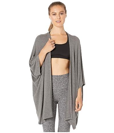 Beyond Yoga Brushed Back Hacci Kimono Cardigan (Mid Heather Gray) Women