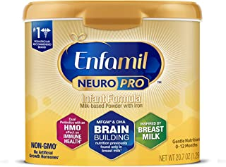 Enfamil NeuroPro Baby Formula Milk Powder 20.7 oz Reusable Tub, Dual Prebiotics for Immune Support, Infant Formula Inspired by Breast Milk, Brain-building DHA & MFGM, Iron, Non-GMO