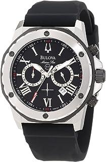 Men's 98B127 Marine Star Black Dial Strap Watch