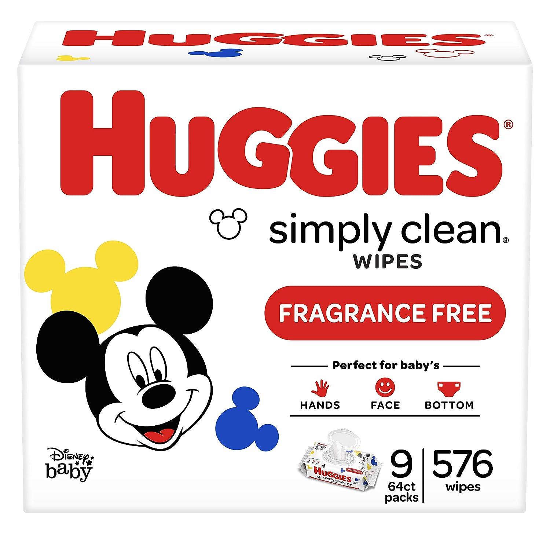 Finally popular brand Ranking TOP10 Huggies Simply Clean Unscented Baby Flip-Top Packs 9 576 Wipes