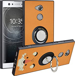 Alapmk Compatible with Sony Xperia XA2 Ultra Case,[Pattern Design] with Ring Kickstand Fit Magnetic Car Mount,Scratch Prot...