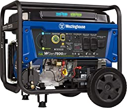 Westinghouse WGen7500DF Dual Fuel Portable Generator 7500 Rated & 9500 Peak Watts, Gas or Propane Powered, Electric Start,...