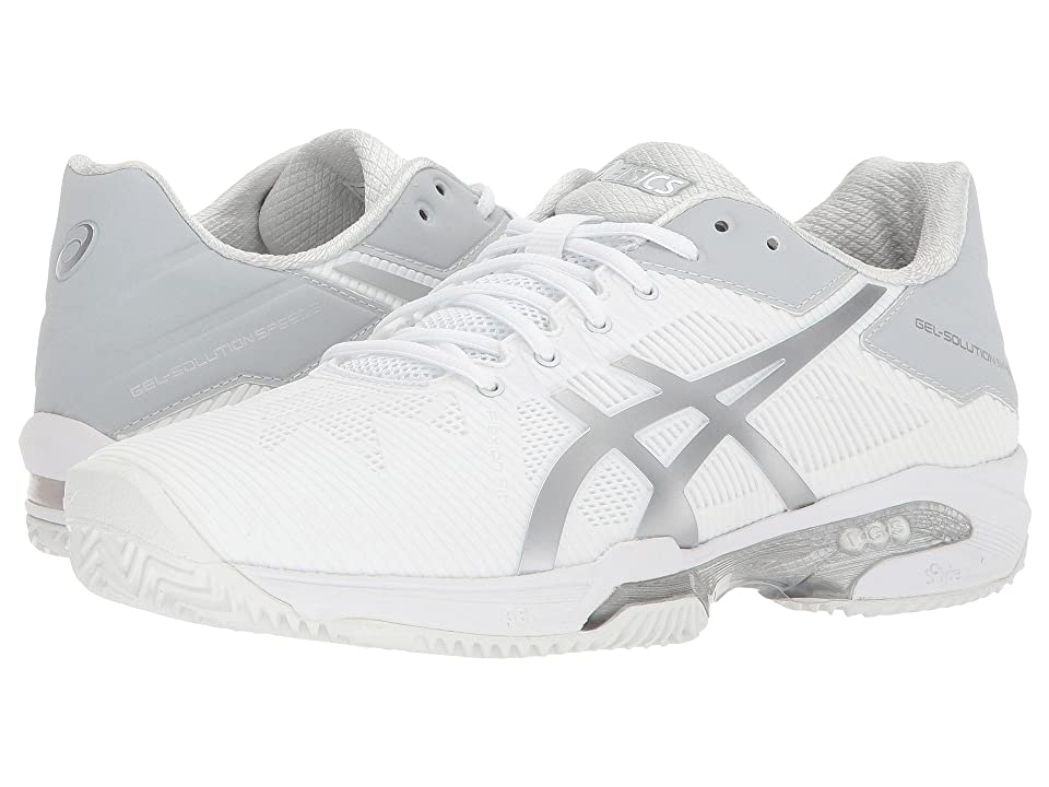 ASICS Gel-Solution(r) Speed 3 Clay (White/Silver) Women