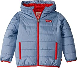 Larry Levine Quilted Barn Jacket W Hood Navy 6pm