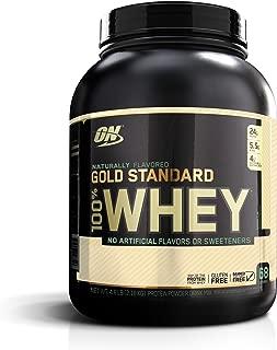 OPTIMUM NUTRITION GOLD STANDARD 100% Whey Protein Powder, Naturally Flavored Vanilla, 4.8 Pound