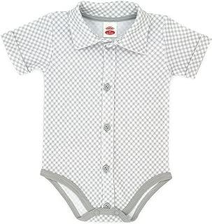 inlzdz Unisex Baby Jungen Hemdbody Langarm Strampler mit Kragen Baumwolle Kariert Hemd Spielanzug Overall S/äugling Freizeit Casual Hemd