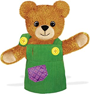 YOTTOY Corduroy in The Green Overalls Plush Bear Toys (Corduroy Puppet)