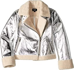 Iris Metallic Biker Jacket (Big Kids)